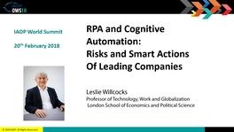RPA и автоматизация: риски и действия ведущих компаний