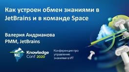 Как устроен процесс обмена знаниями в JetBrains в целом и в команде Space
