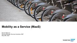 Мобильность как услуга